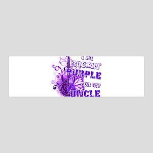 I'm Rockin' Purple for my Unc 42x14 Wall Peel