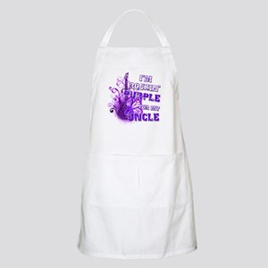 I'm Rockin' Purple for my Unc Apron