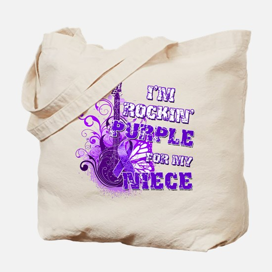 I'm Rockin' Purple for my Nie Tote Bag