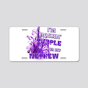 I'm Rockin' Purple for my Nep Aluminum License Pla