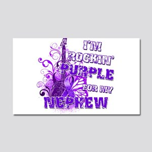 I'm Rockin' Purple for my Nep Car Magnet 20 x 12