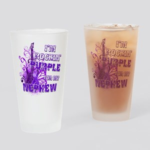 I'm Rockin' Purple for my Nep Drinking Glass