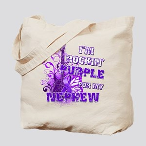 I'm Rockin' Purple for my Nep Tote Bag