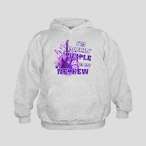 I'm Rockin' Purple for my Nep Kids Hoodie