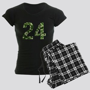 Number 24, Camo Women's Dark Pajamas
