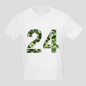 Number 24, Camo Kids Light T-Shirt
