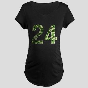Number 24, Camo Maternity Dark T-Shirt