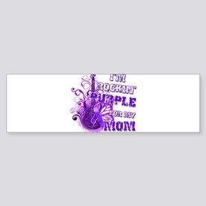 I'm Rockin' Purple for my Mom Sticker (Bumper)