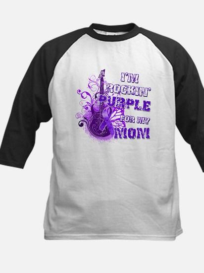 I'm Rockin' Purple for my Mom Kids Baseball Jersey