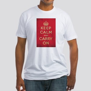 Keep Calm And Carry On Fitted T-Shirt
