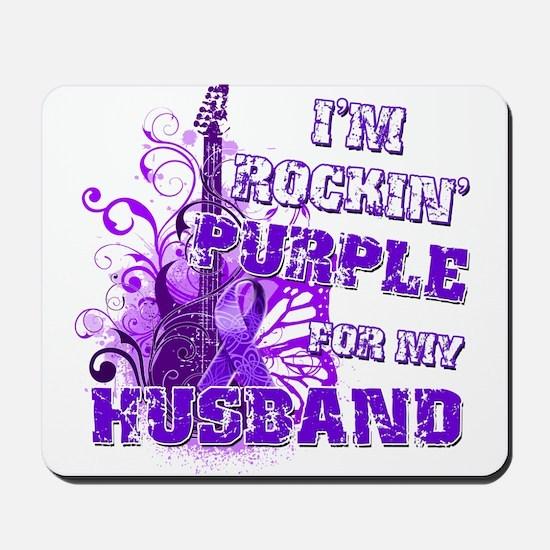 I'm Rockin' Purple for my Hus Mousepad