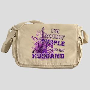 I'm Rockin' Purple for my Hus Messenger Bag
