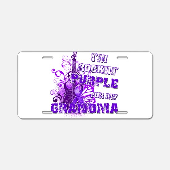 I'm Rockin' Purple for my Gra Aluminum License Pla