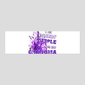 I'm Rockin' Purple for my Gra 42x14 Wall Peel
