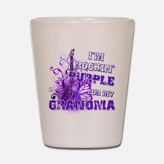 I'm Rockin' Purple for my Gra Shot Glass