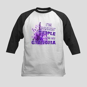 I'm Rockin' Purple for my Gra Kids Baseball Jersey