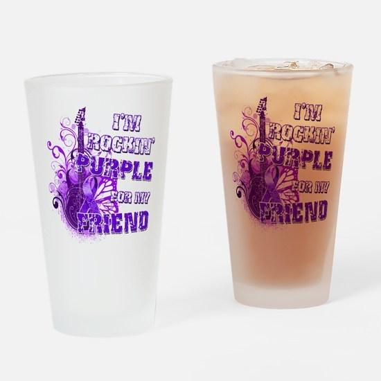 I'm Rockin' Purple for my Fri Drinking Glass