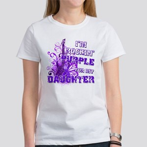 I'm Rockin' Purple for my Dau Women's T-Shirt