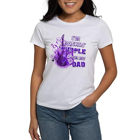 I'm Rockin' Purple for my Dad Women's T-Shirt