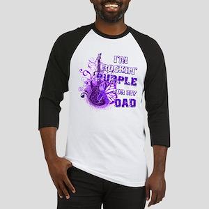 I'm Rockin' Purple for my Dad Baseball Jersey