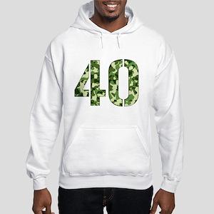Number 40, Camo Hooded Sweatshirt