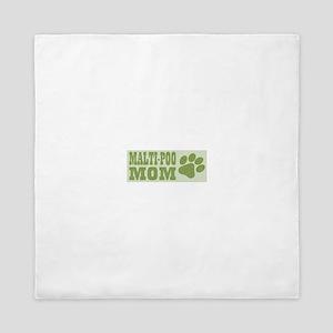 Malti-Poo Mom Green Queen Duvet