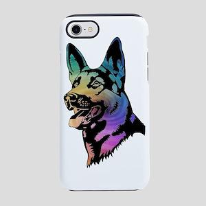 Rainbow Swirl German Shepherd iPhone 7 Tough Case
