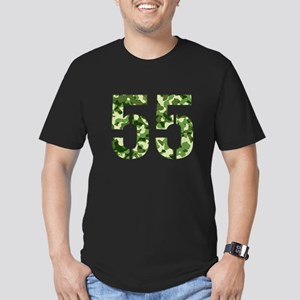 Number 55, Camo Men's Fitted T-Shirt (dark)
