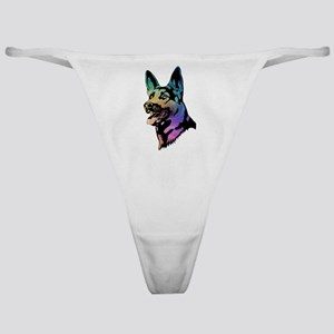 Rainbow Swirl German Shepherd Classic Thong
