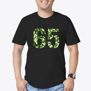 Number 65, Camo Men's Fitted T-Shirt (dark)