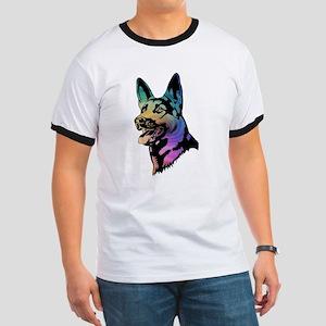 Rainbow Swirl German Shepherd T-Shirt