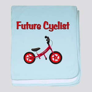 Future Cyclist baby blanket