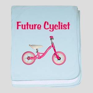 Future Girl Cyclist baby blanket