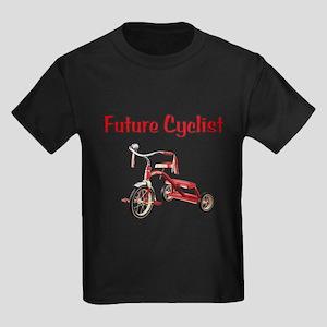 Future Cyclist Trike Kids Dark T-Shirt