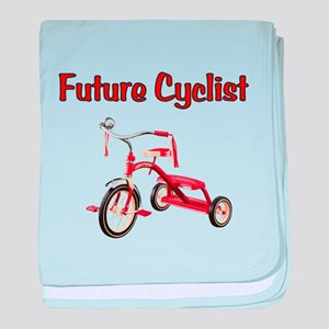 Future Cyclist Trike baby blanket