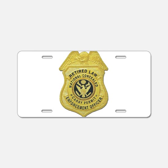 Retired Law Enforcement Aluminum License Plate