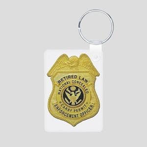Retired Law Enforcement Aluminum Photo Keychain