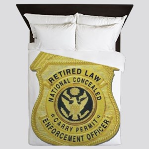 Retired Law Enforcement Queen Duvet