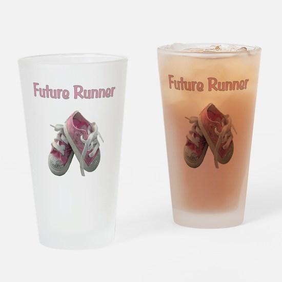 Future Girl Runner Drinking Glass