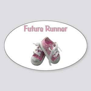 Future Girl Runner Sticker (Oval)
