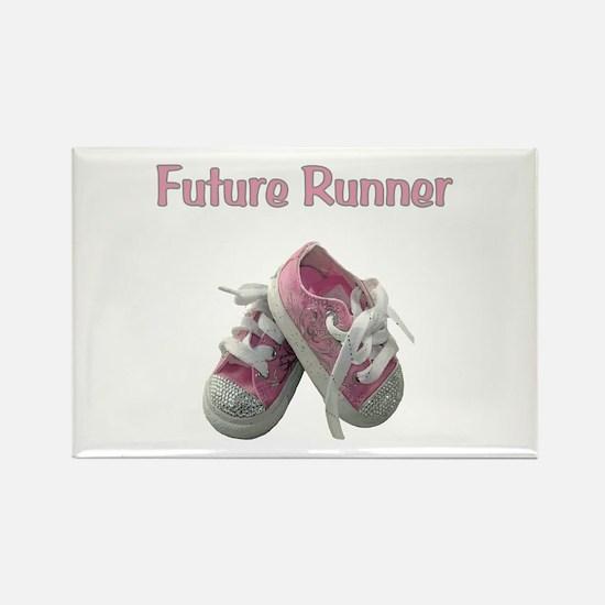 Future Girl Runner Rectangle Magnet