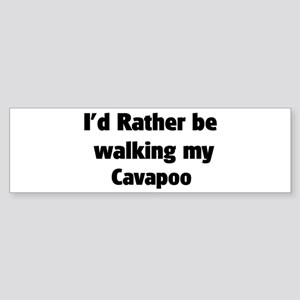 Rather: Cavapoo Bumper Sticker