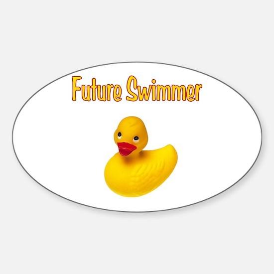 Future Swimmer Sticker (Oval)