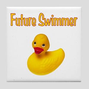 Future Swimmer Tile Coaster