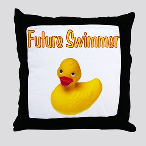 Future Swimmer Throw Pillow