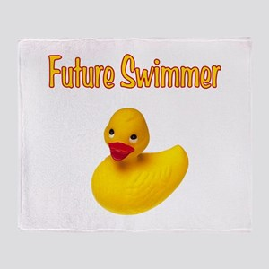 Future Swimmer Throw Blanket
