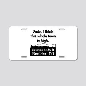 Boulder High Town Aluminum License Plate