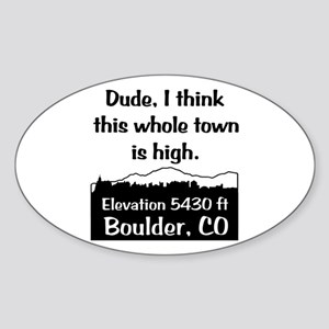 Boulder High Town Sticker (Oval)