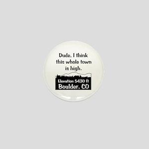 Boulder High Town Mini Button