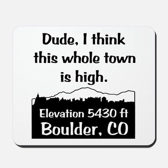 Boulder High Town Mousepad